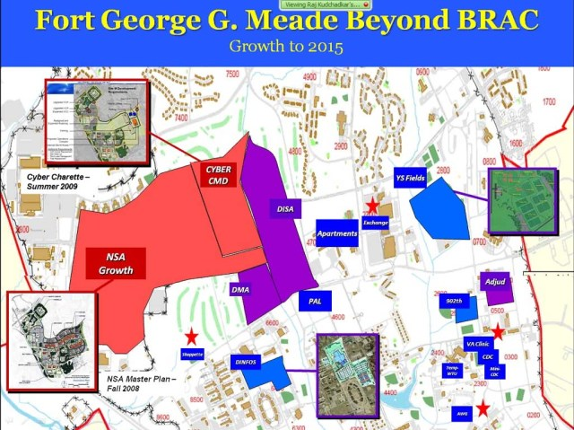 Fort Meade growth map